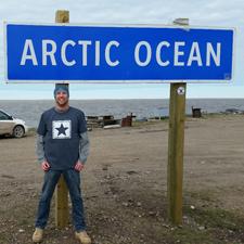 Logo at the Arctic Ocean