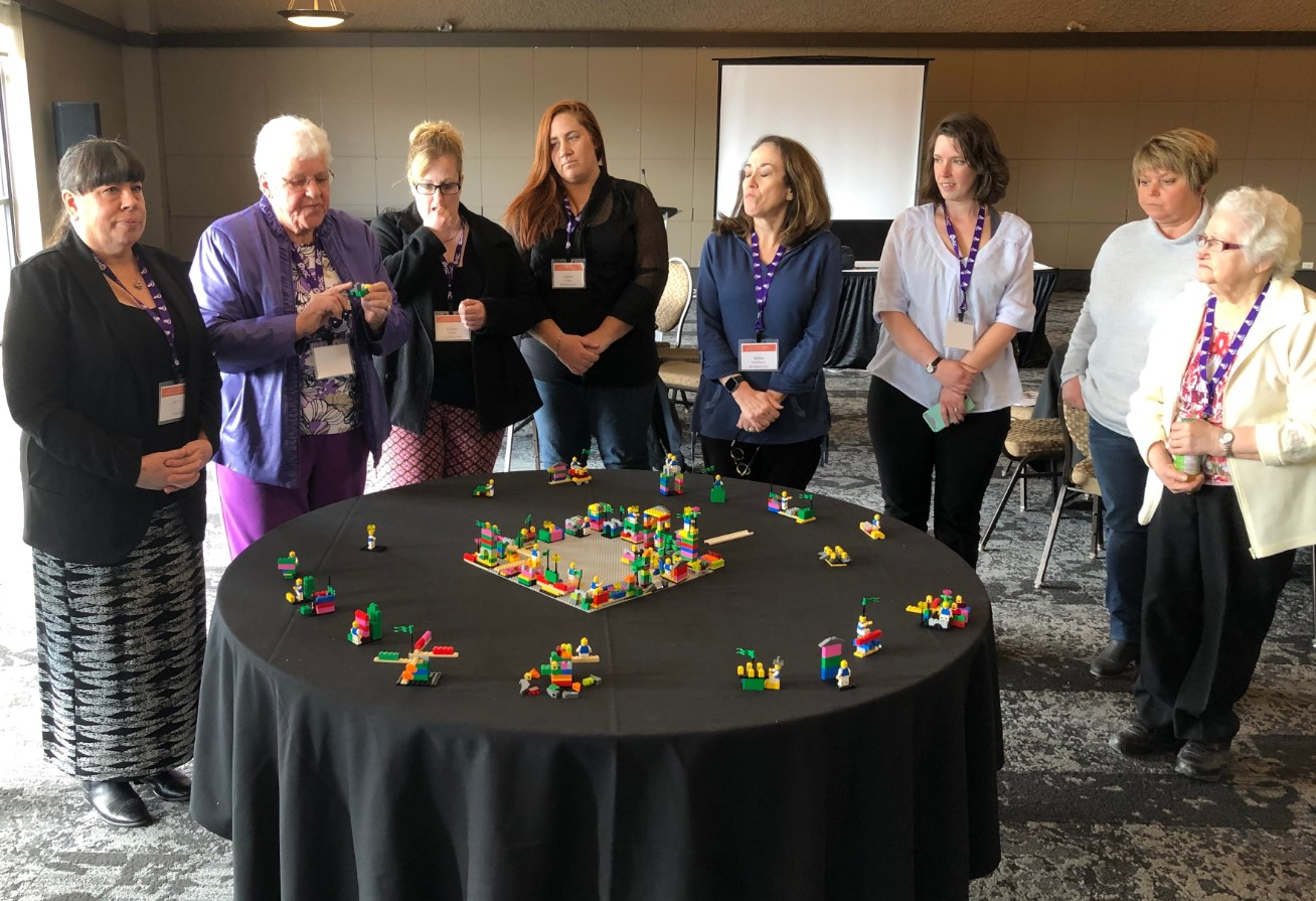 Lego exercise at Winnipeg event