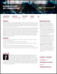 Designing Efficient Deep Learning Systems Course Flyer