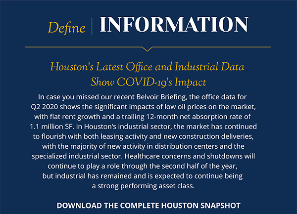 Houston's Latest Office and Industrial Data Show COVID-19's Impact