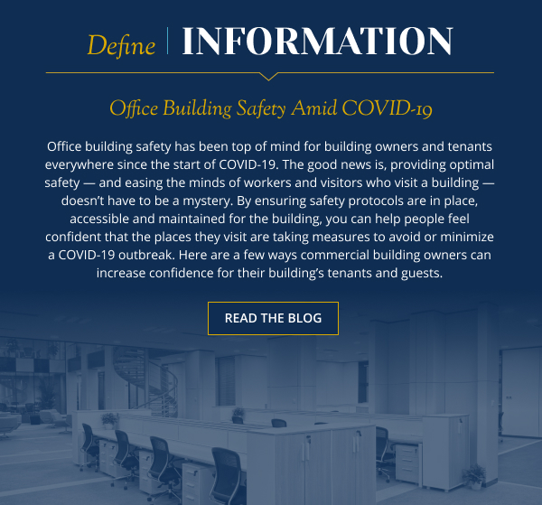Office Building Safety Amid COVID-19 - Read the blog