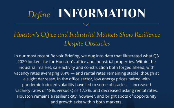 Houston's Office and Industrial Markets Show Resilience Despite Obstacles