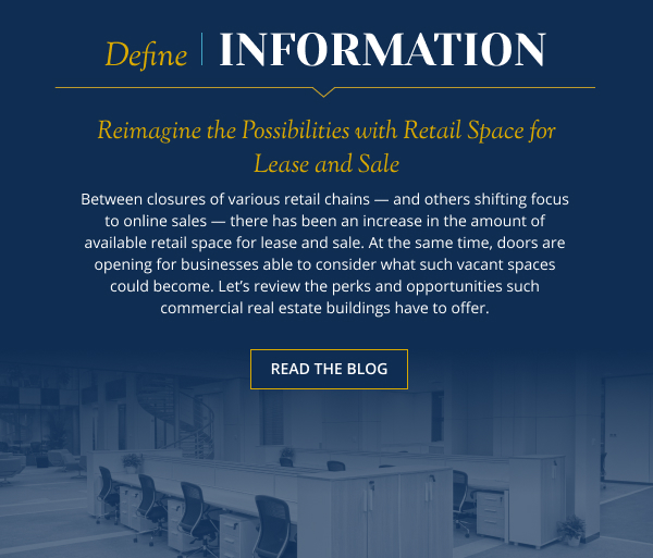 Reimagine the Possibilities with Retail Space for Lease and Sale