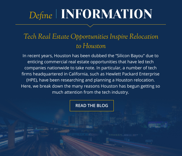 Tech Real Estate Opportunities Inspire Relocation to Houston