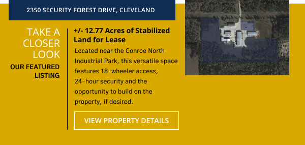 +/- 12.77 Acres of Stabilized Land for Lease | 2350 Security Forest Drive, Cleveland