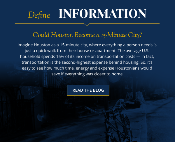 Could Houston Become a 15-Minute City?