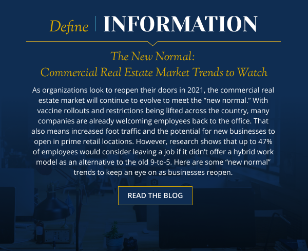 The New Normal: Commercial Real Estate Market Trends to Watch