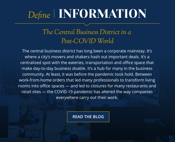 The Central Business District in a Post-COVID World