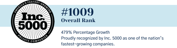 Belvoir Continues Going Places Proudly recognized by Inc. 5000 as one of the nation's fastest-growing companies.  #1009: Overall Rank 479%: Percentage Growth