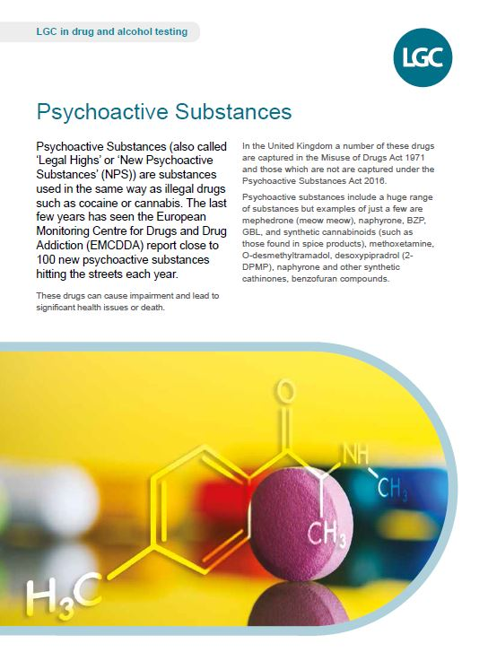 LGC Psychoactive substances