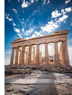 Front View of the Parthenon