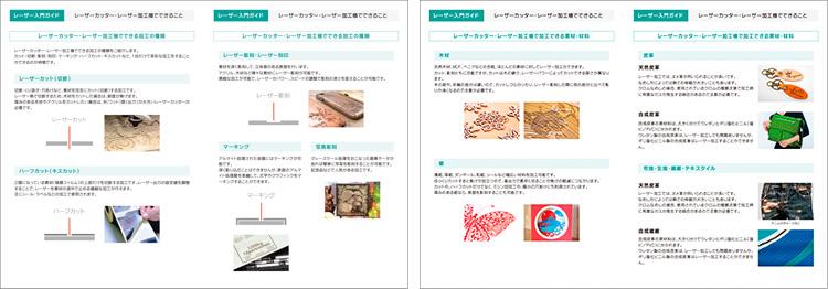 レーザー入門ガイド|レーザーカッター・レーザー加工機でできることの掲載内容