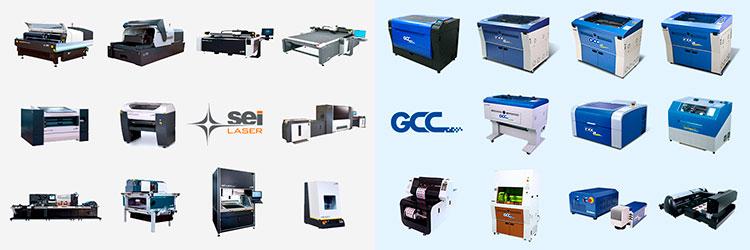 ものづくり補助金対象のレーザーカッター・レーザー加工機の対象機種:SEIシリーズ・GCC LaserProシリーズ 全製品