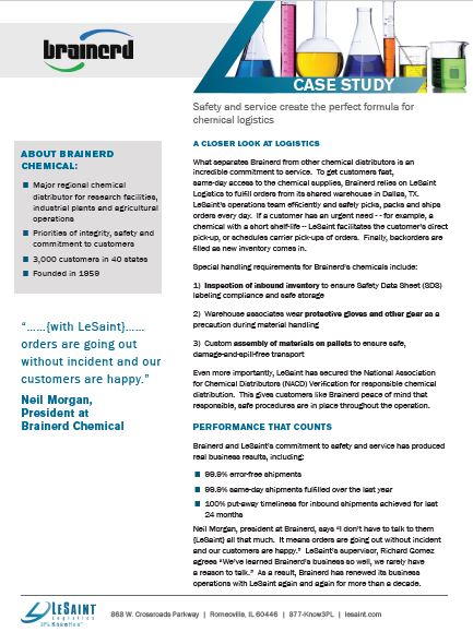 LeSaint Chemical Logistics Case Study