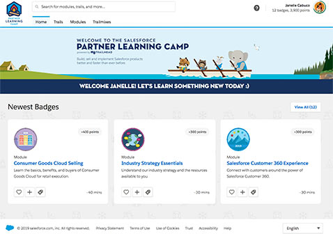 Screenshot for Partner Learning Camp