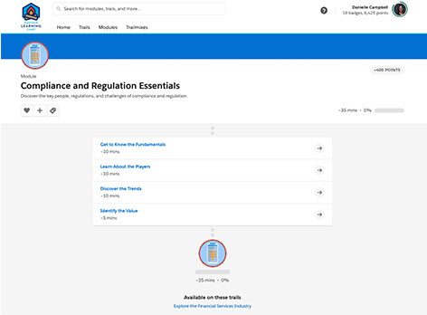 Screenshot of Compliance and Regulation Essentials