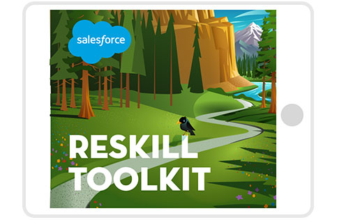 Reskill Toolkit on tablet computer