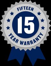 15-year limited warranty