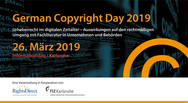 Informationstag | 23. Oktober 2017 Frankfurt - Urheberrecht im digitalen Zeitalter. Eine Veranstaltung in Kooperation von: RightsDirect und Schweitzer Fachinformationen