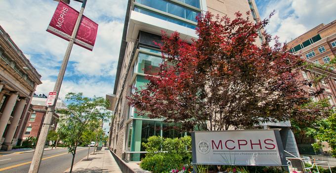 Exterior shot of MCPHS University on Longwood Avenue
