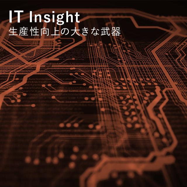 IT Insight 生産性向上の大きな武器