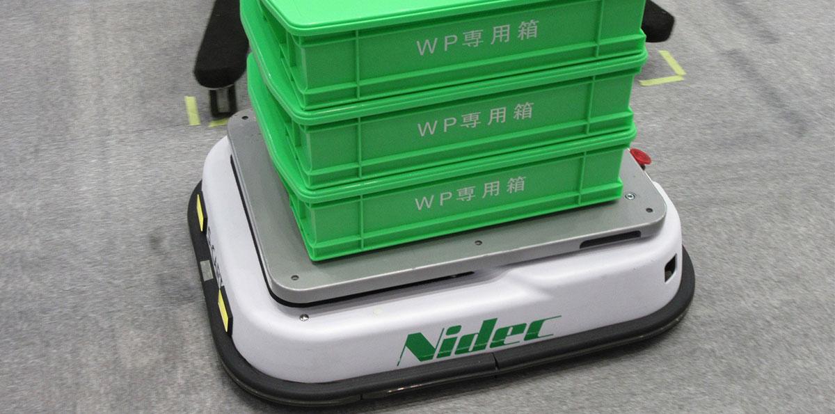 ロボット Insight ガイドレスAGVの提案を強化する日本電産シンポ