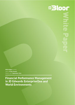 Bloor research report on financial intelligence and business reporting for JD Edwards