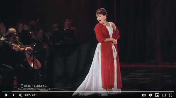 Base Hologram Maria Callas Video