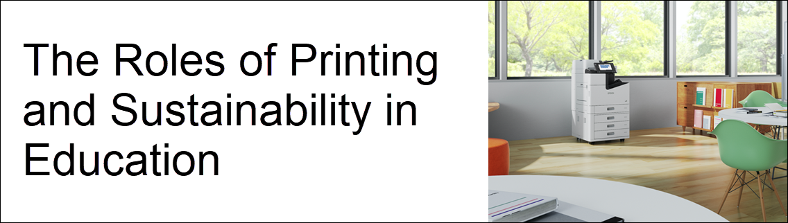 How To Make Printing and Sustainability Co-Exist in Education