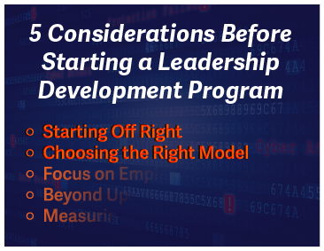 5 Considerations Before Starting a Leadership Development Program