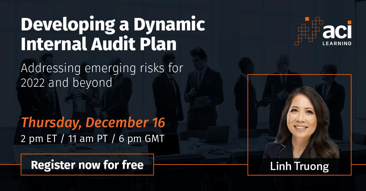 Developing a Dynamic Internal Audit Plan