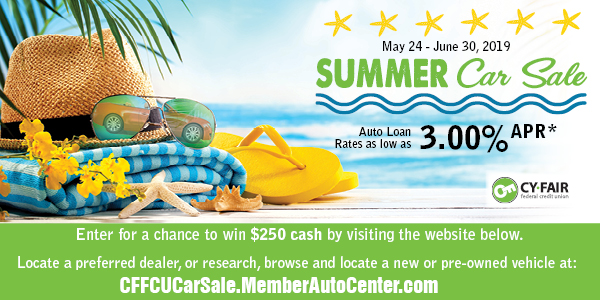 Summer Car Sale - Enter for a chance to win $250 cash