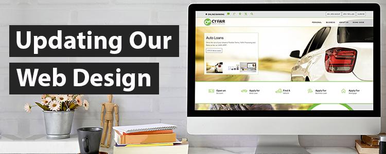 Updating our website design