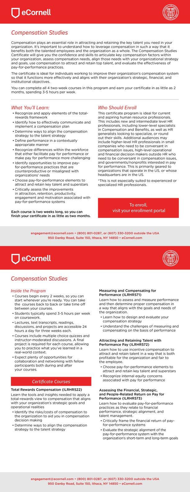 Compensation Studies Corporate Flyer