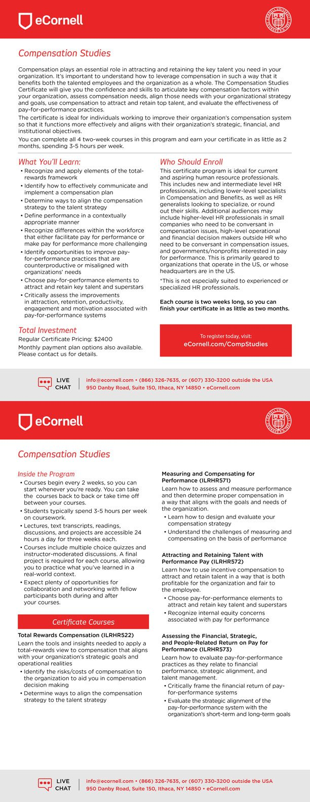 Compensation Studies Flyer