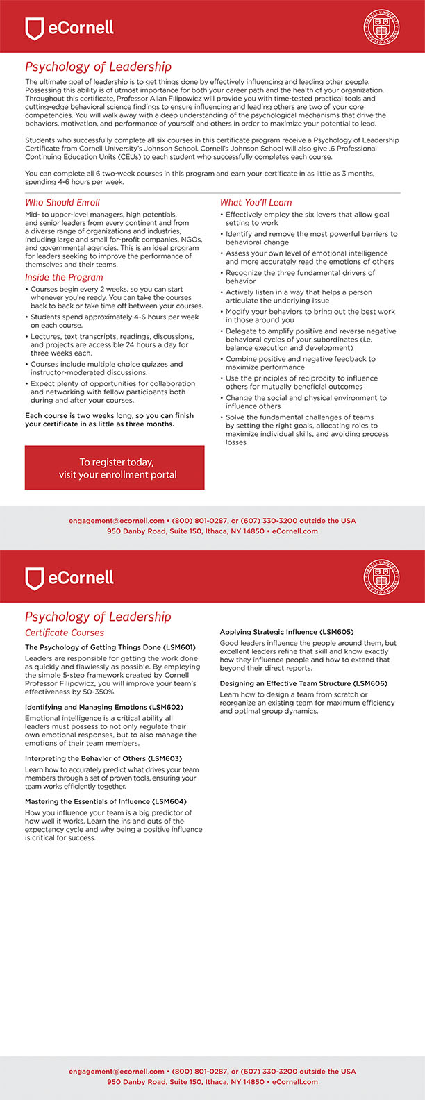 Psychology of Leadership Corporate Flyer