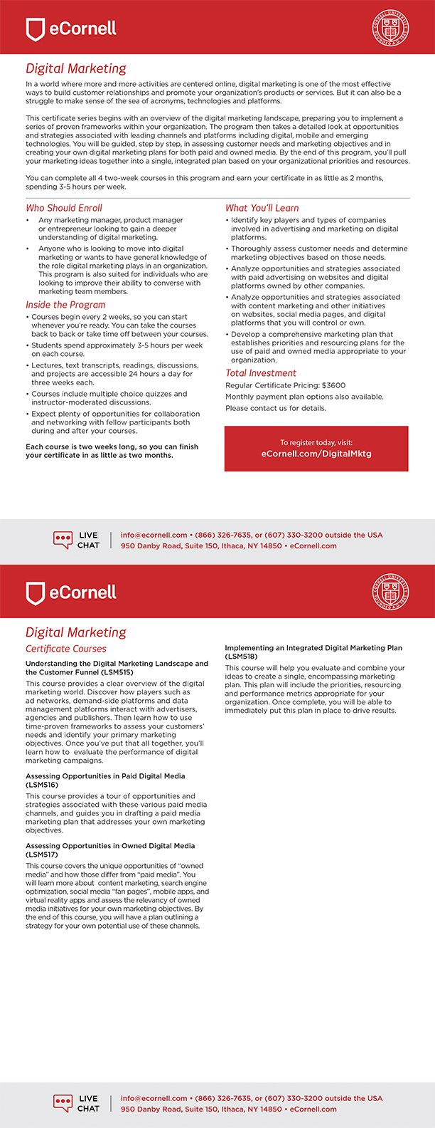Digital Marketing Certificate Flyer