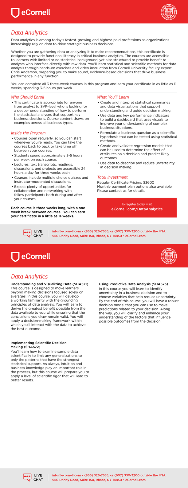 Data Analytics Flyer
