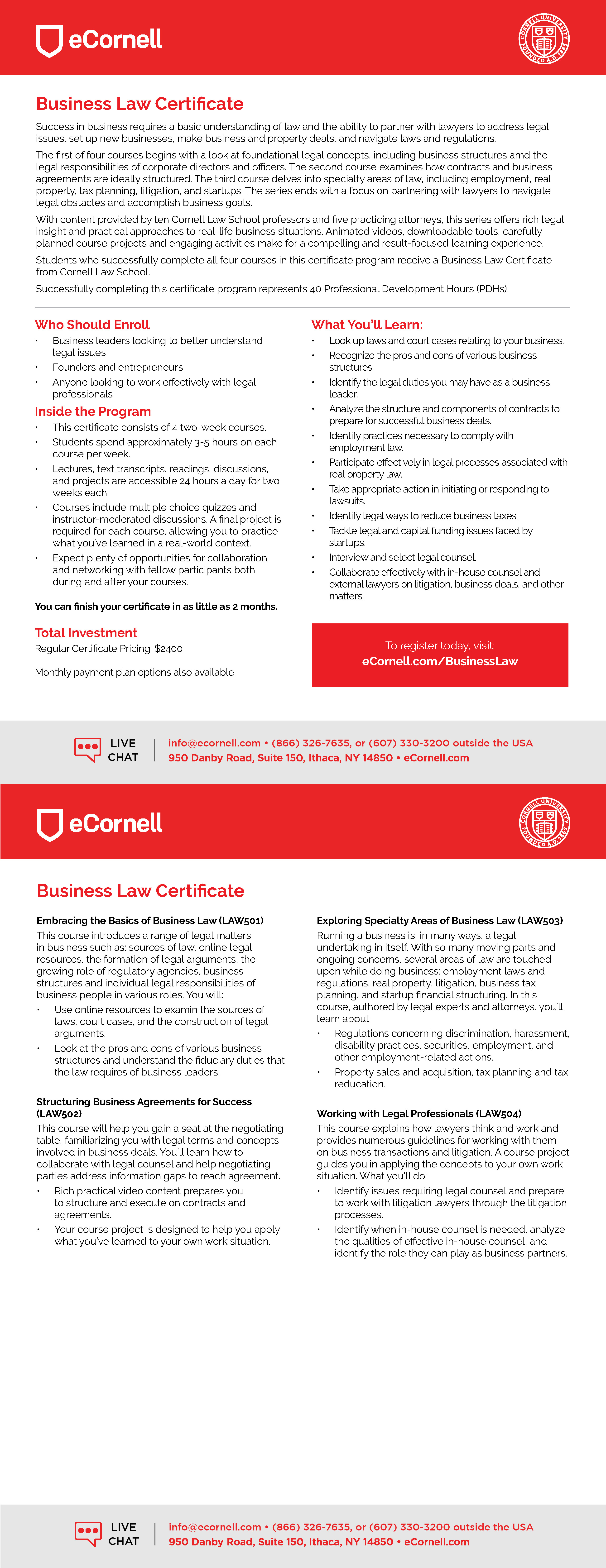Essential Legal Concepts for Business Leaders Flyer
