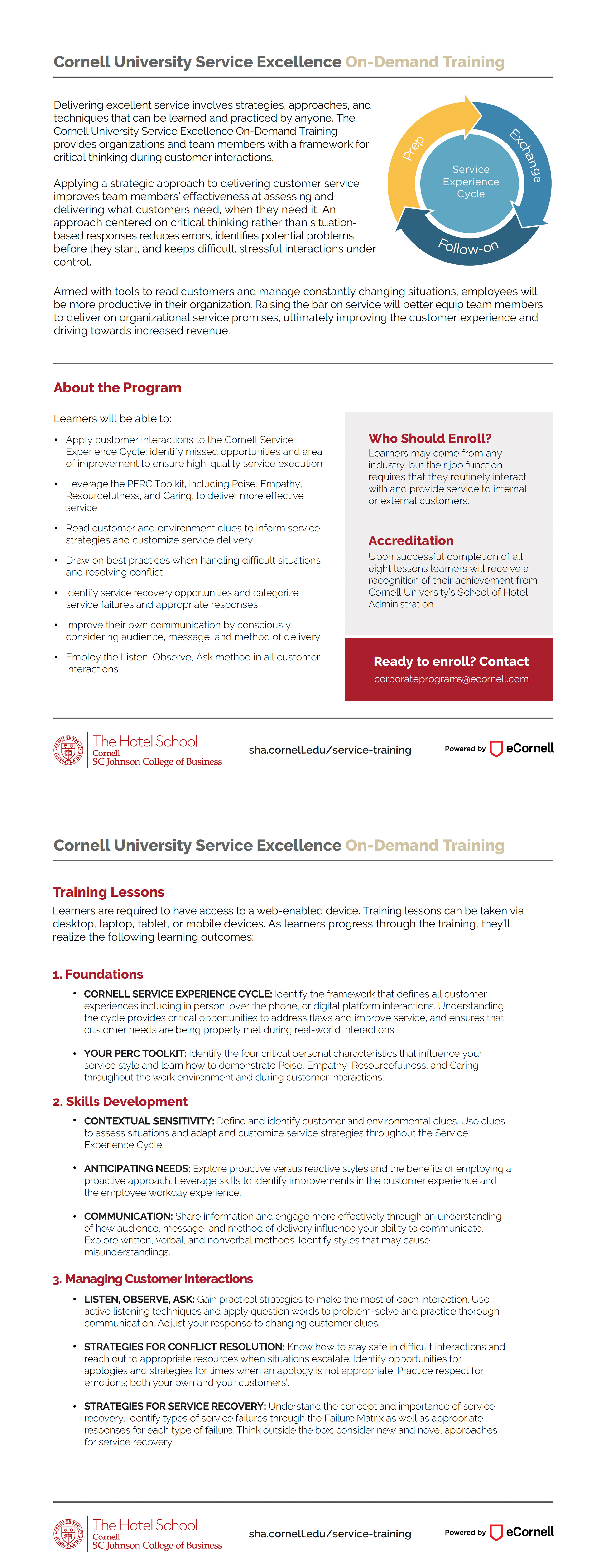 Service Excellence Flyer
