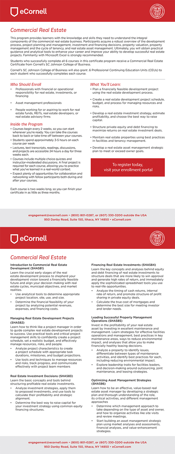 Commercial Real Estate Flyer for Corporations