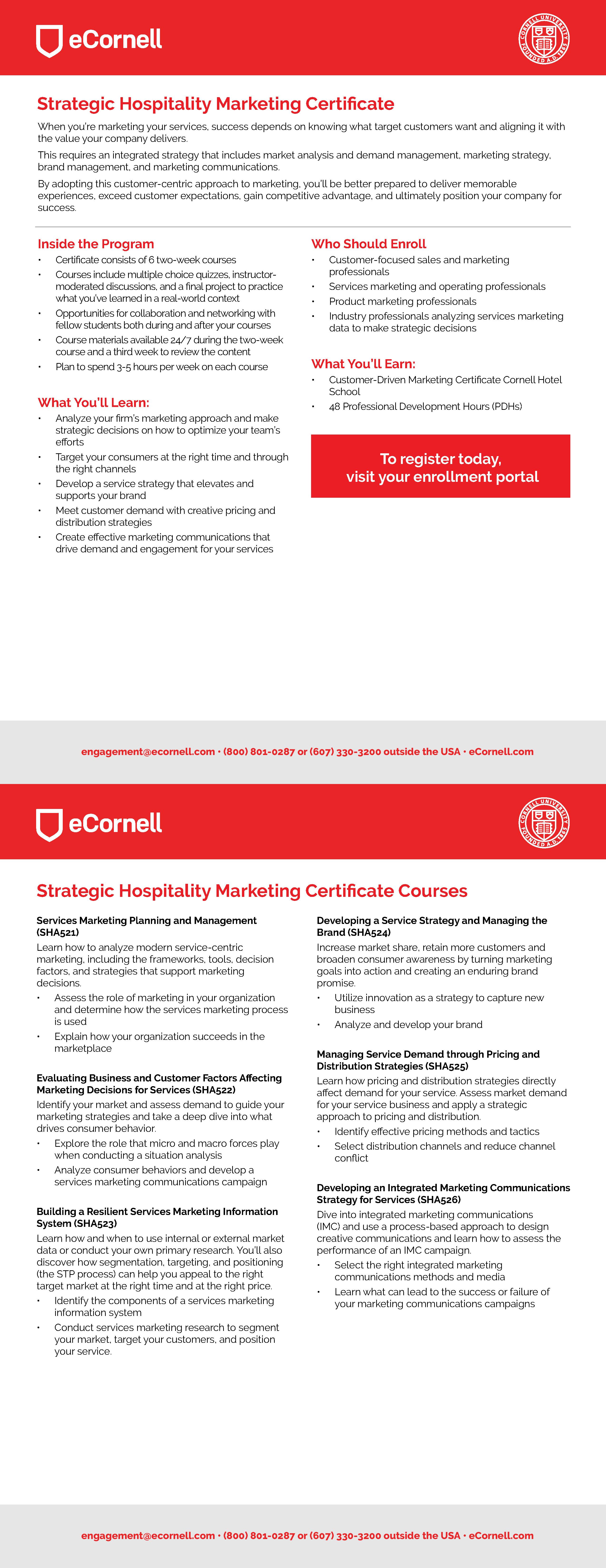 Strategic Hospitality Marketing Flyer for Corporations