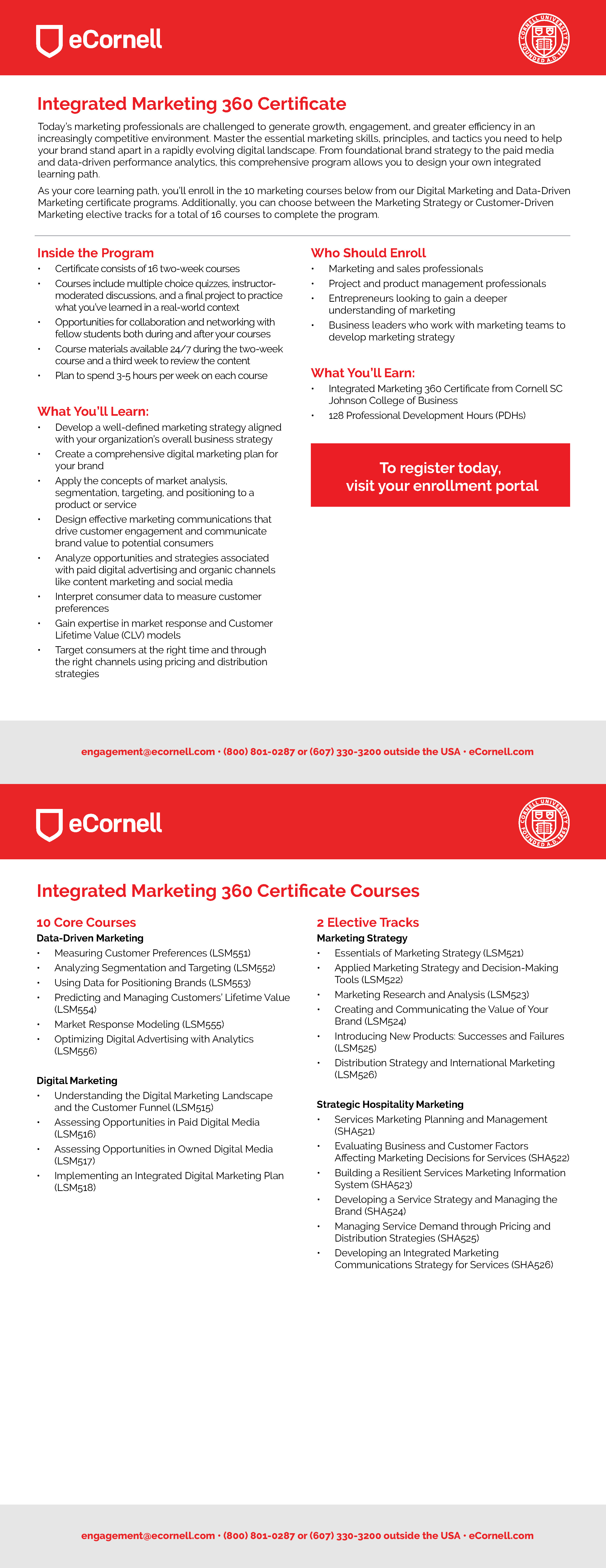 Integrated Marketing 360 Flyer for Corporations