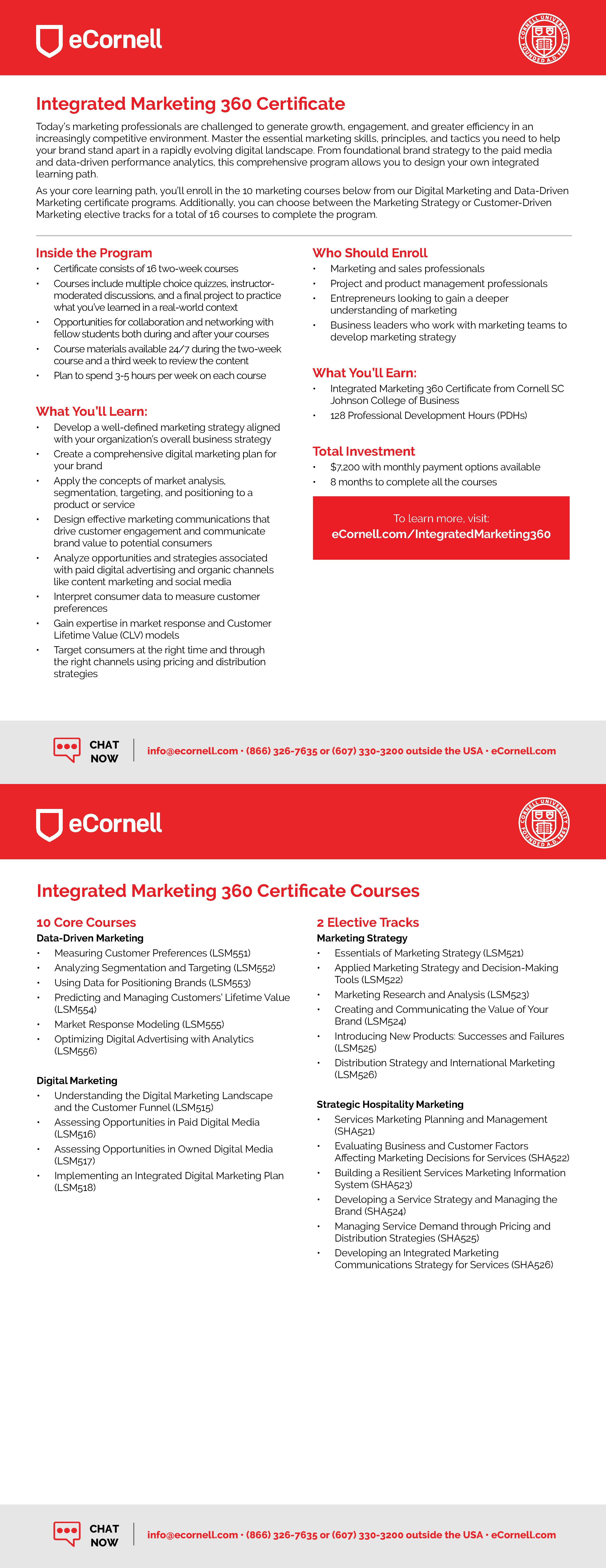 Integrated Marketing 360 Flyer