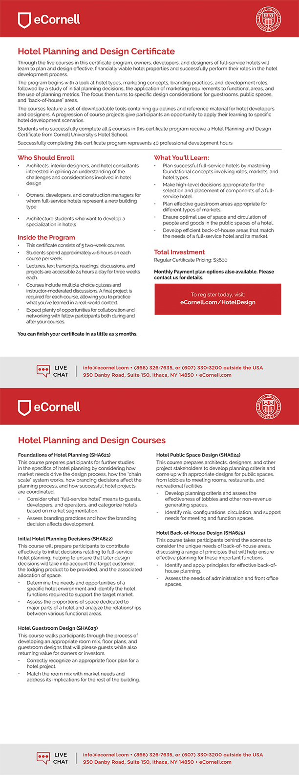 Hotel Planning and Design Flyer