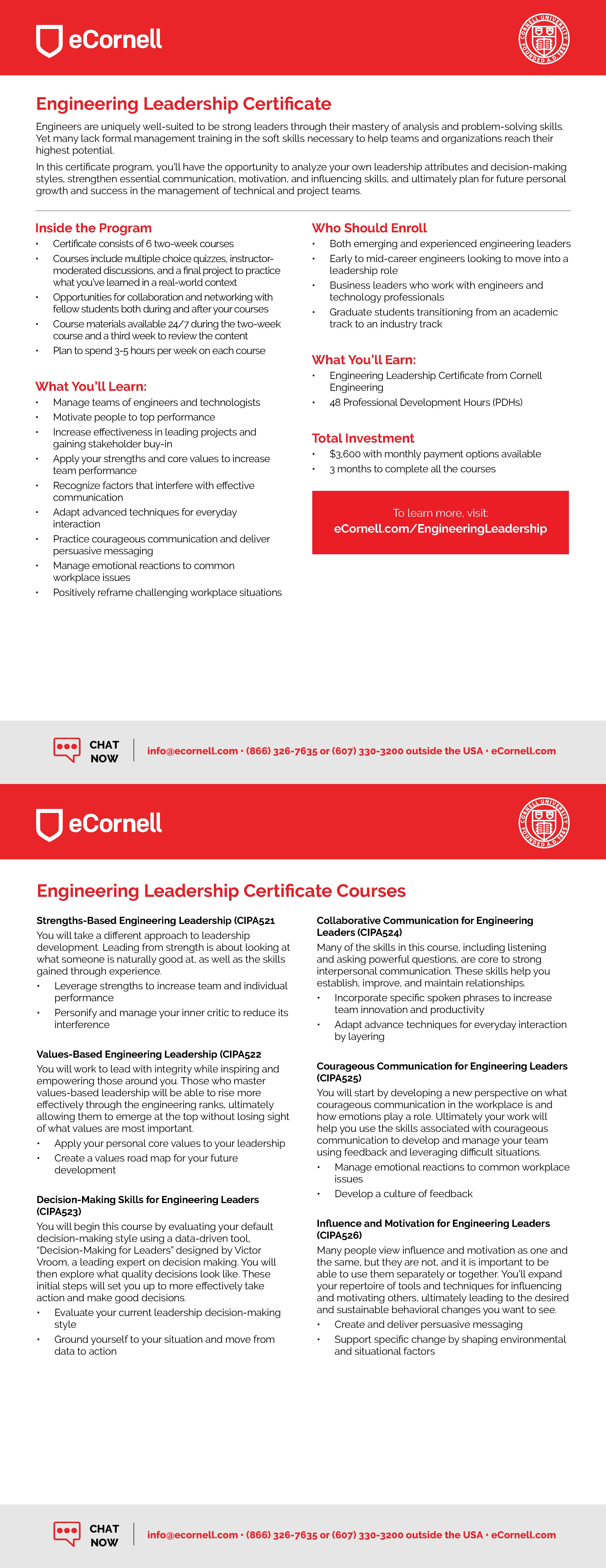 Engineering Leadership Flyer