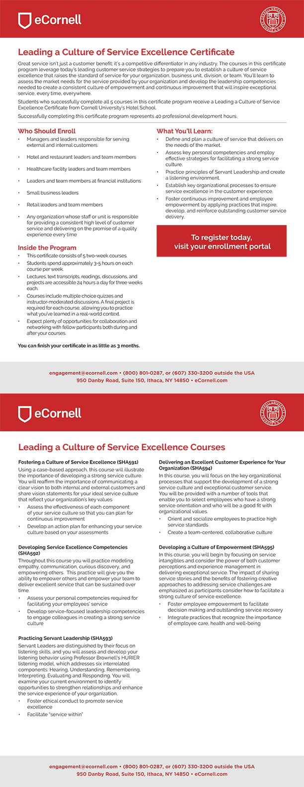 Leading a Culture of Service Excellence Flyer