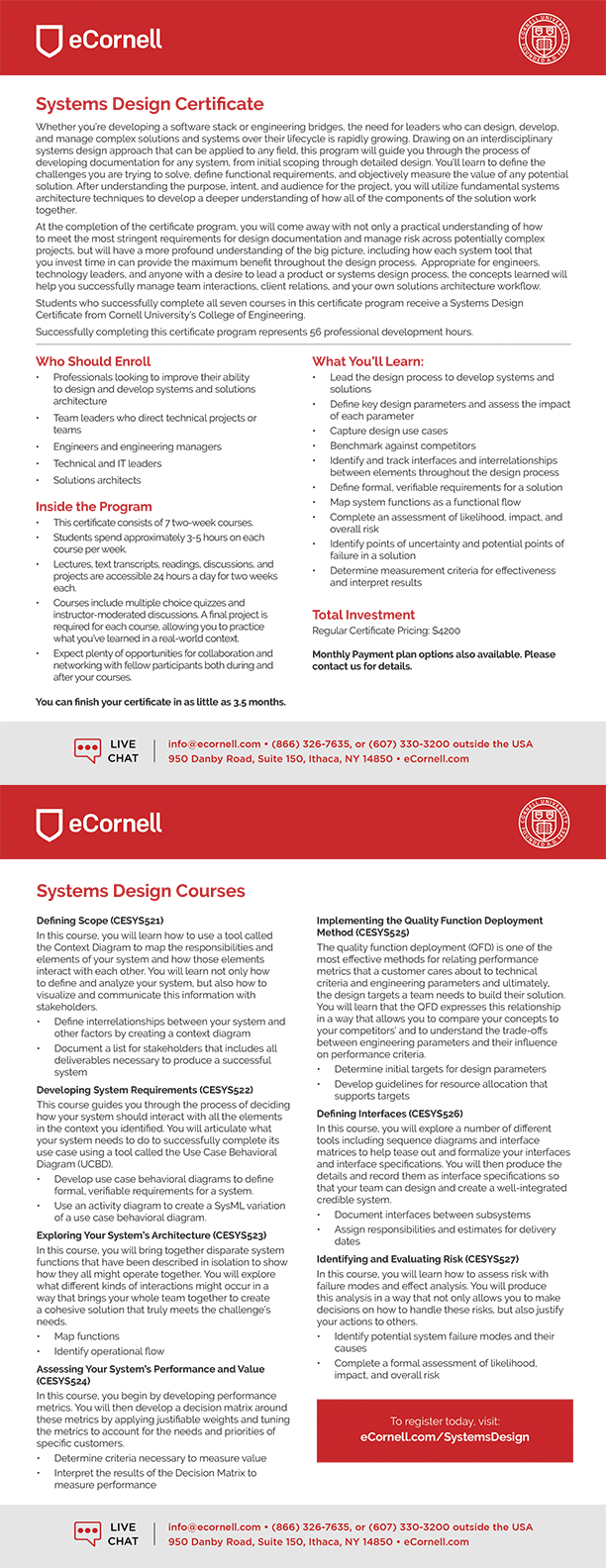 Systems Design Flyer