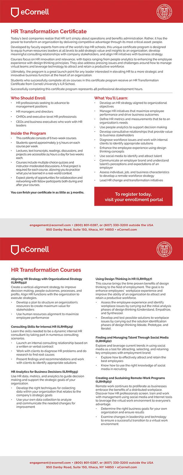 HR Transformation Flyer