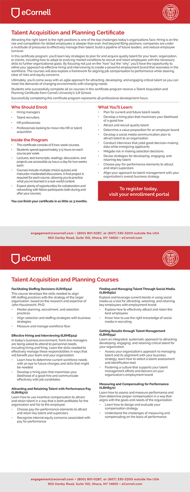 Talent Acquisition and Planning Flyer